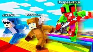 EVIL UNSPEAKABLE VS MOOSECRAFT VS 09SHARKBOY! - MINECRAFT FAN BATTLE