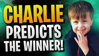 Charlie predicts the winner! Fortnite Battle Royale!