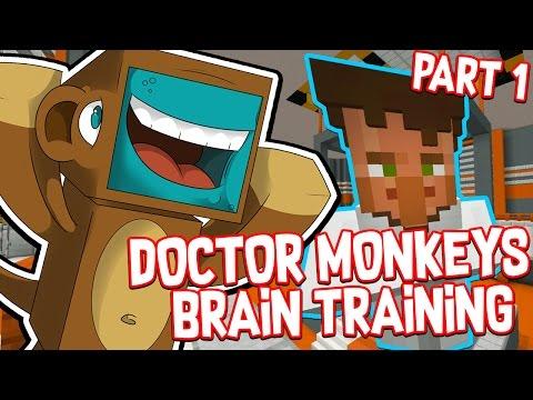 I BECOME A MONKEY!! #1 - Doctor Monkeys Brain Training!! - Minecraft Custom Map