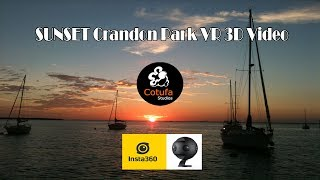 Sunset in Crandon Park VR 3D 360 8K Video Miami - Key Biscayne (Insta360Pro2)