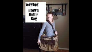 Wowbox Canvas Duffle Bag (Brown)- Product Review