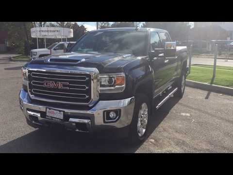 2018 GMC Sierra 2500HD Crew Cab 153.7 SLT Diesel Heated Cooled Front Seats Oshawa ON Stock #180073