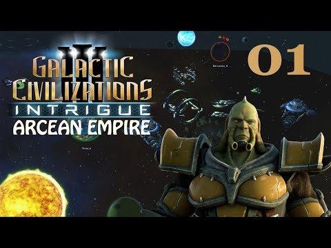 Galactic Civilizations III: Intrigue - Let's Play // Arcean Empire - Episode #1 [Malevolent]