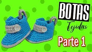 Como tejer botas a crochet para bebe - Modelo botas Milan | parte 1/2