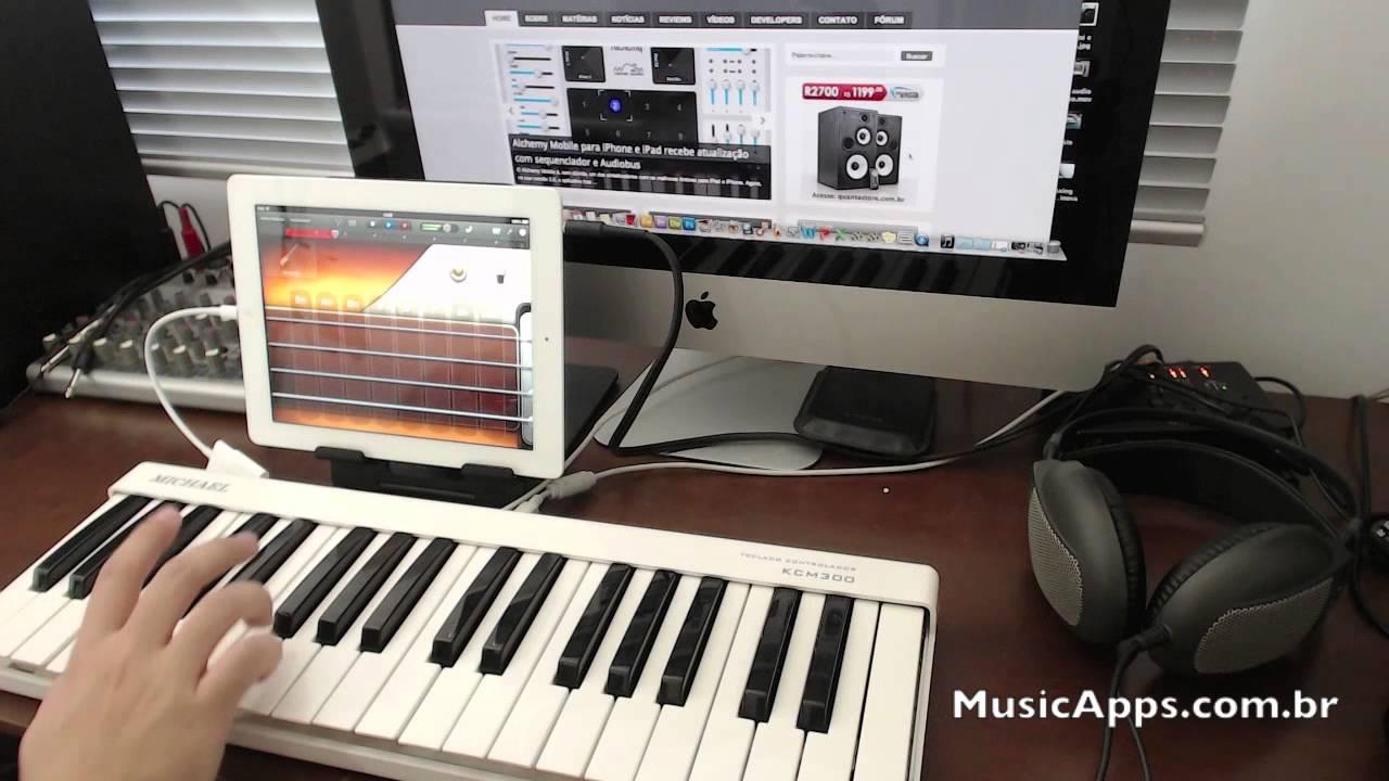 Teclado Controlador Midi Usb Kcm300 Michael Com Ipad E