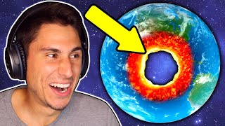 I Made A GIANT HOLE In Planet Earth!