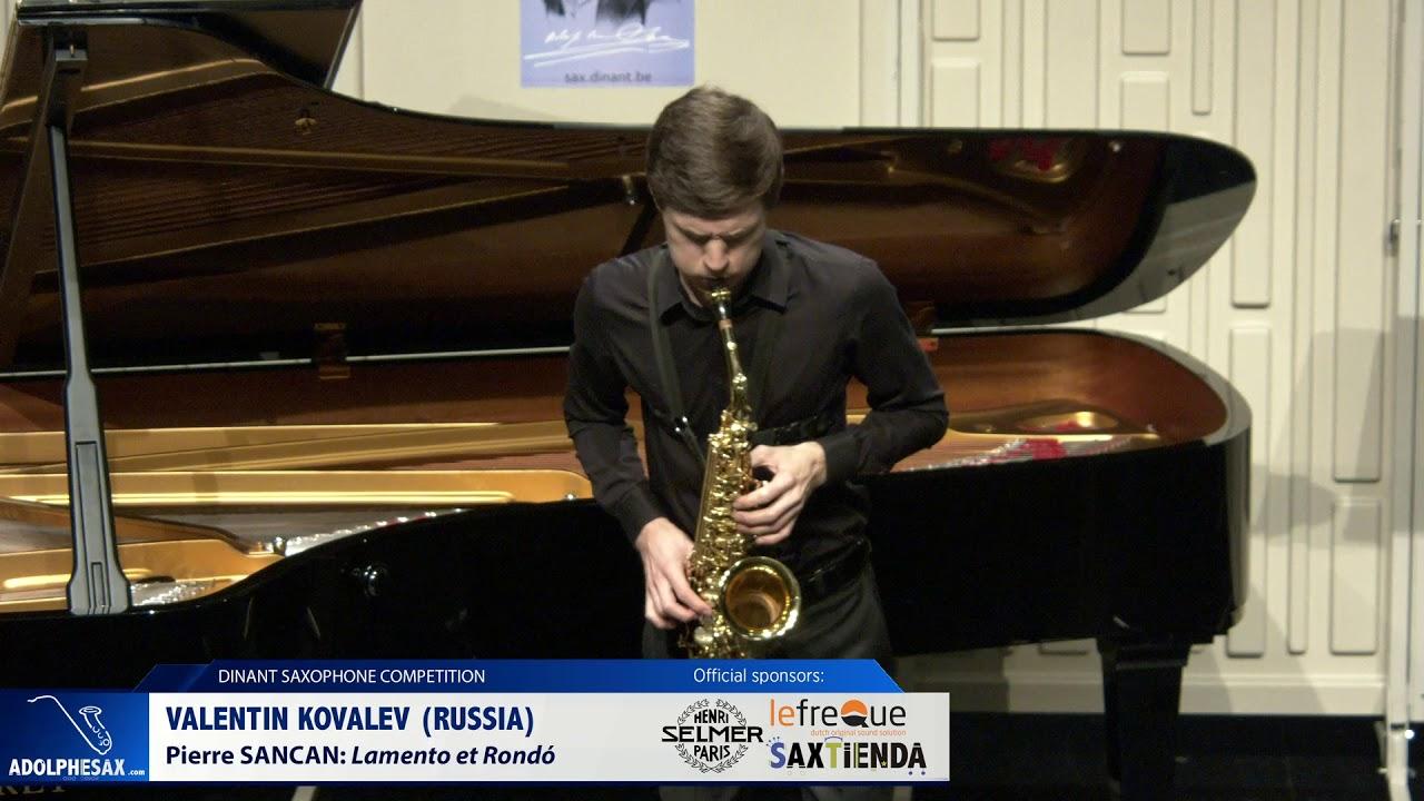 Valentin Kovalev (Russia) - Lamento et Rondó by Pierre Sancan (Dinant 2019)