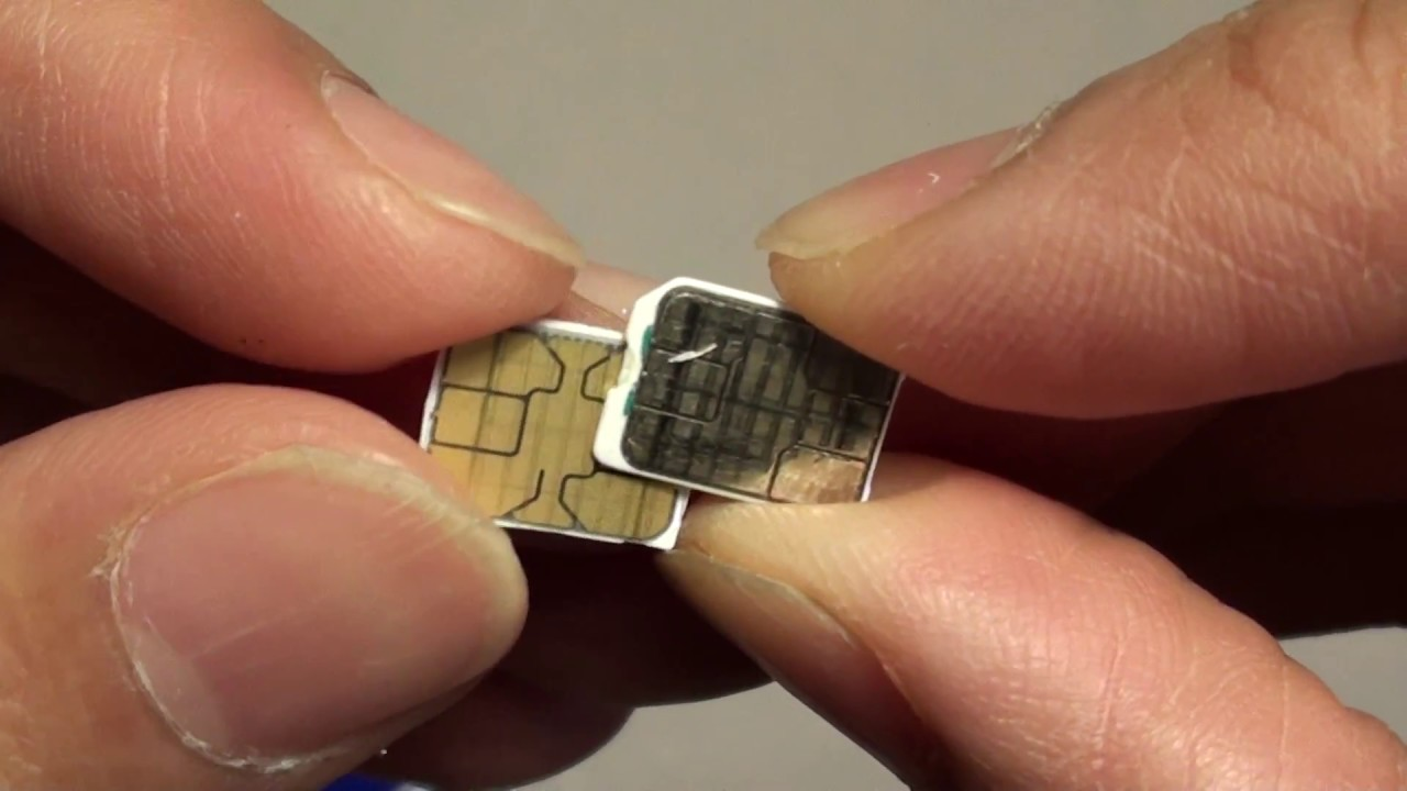 Samsung Galaxy S8 How To Cut Sim Card Down To Nano Size Youtube