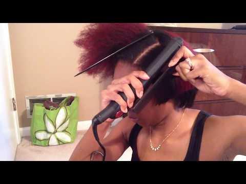 Natural Hair: Flat Iron Routine