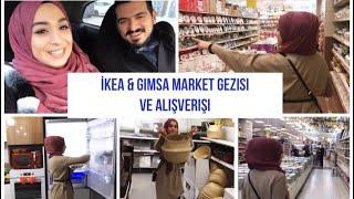 IKEA & GİMSA MARKET GEZİSİ VE ALIŞVERİŞİ - ALIŞVERİŞİMİZİ YERLEŞTİRELİM | #herşeyaşkla #vlog