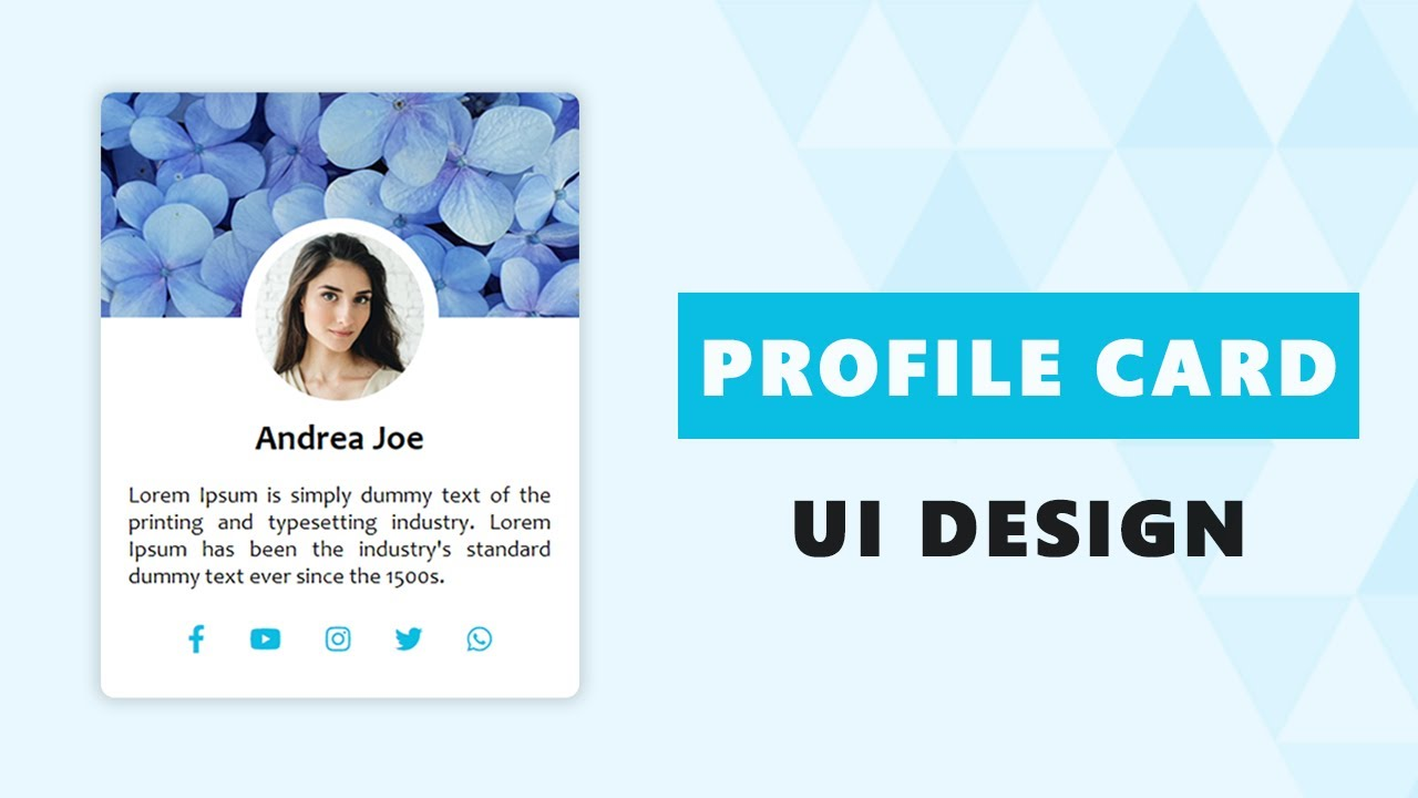 How to Design an Attractive Profile Card Design Only Using HTML and CSS