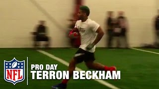 Odell Beckham Jr.'s Cousin Terron Beckham Has Unreal Pro Day! | NFL