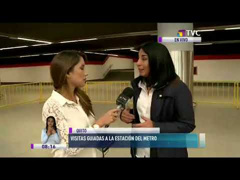 Inician visitas guiadas al Metro de Quito