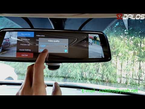 """SZDALOS 10"""" Blind Spot Rear View Mirror System, 4 Lens blind spot observation, 4 cameras DVR"""