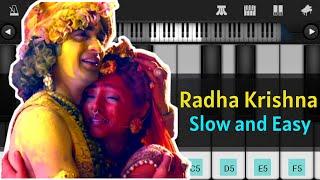 Radha Krishna Serial Song Star Bharat Easy Piano Tutorial   Mobile Piano Tutorial   ThePianoClass