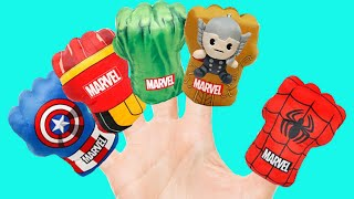 슈퍼히어로 핑거송 불러봐요! Superheroes Finger Family Song | Nursery Rhyme  & Kids Songs - 마슈토이 Mashu ToysReview