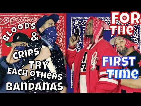 For The First Time Bloods & Crips Try Each Others Bandanas (8JTV)