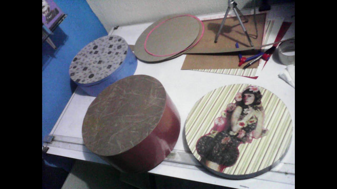 como hacer cajas de carton decoradas con papel youtube. Black Bedroom Furniture Sets. Home Design Ideas
