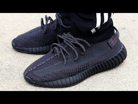 YEEZY BOOST 350 V2 BLACK NON REFLECTIVE REVIEW & ON FEET! (WORTH IT?)