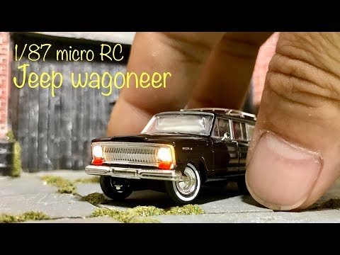 1/87 micro RC / Brekina Jeep wagoneer - Completed video with making photos.