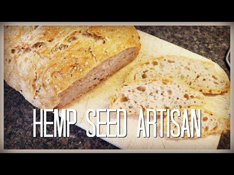 HEMP SEED Artisan Bread | No Knead Recipe | HOMESTEAD DREAMING