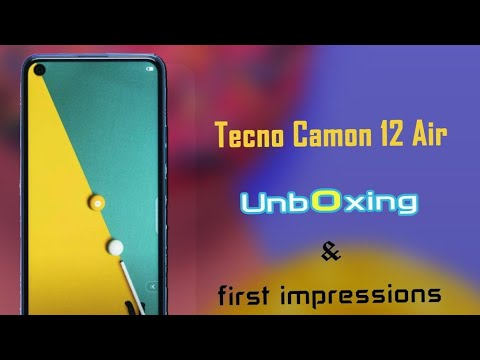 Download Tecno Camon 12 Air unboxing | beast in 18500Pkr