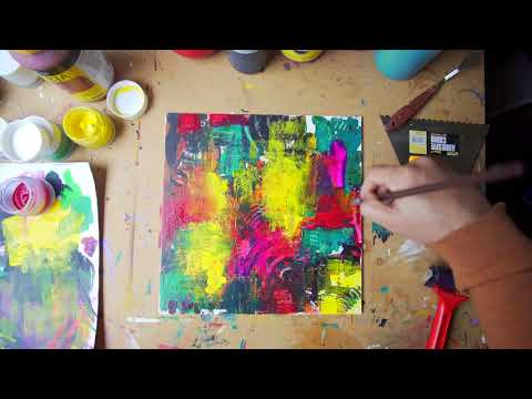 Abstract Painting Technique | Fine Art | Demo | Acrylic Art Series: Video 5