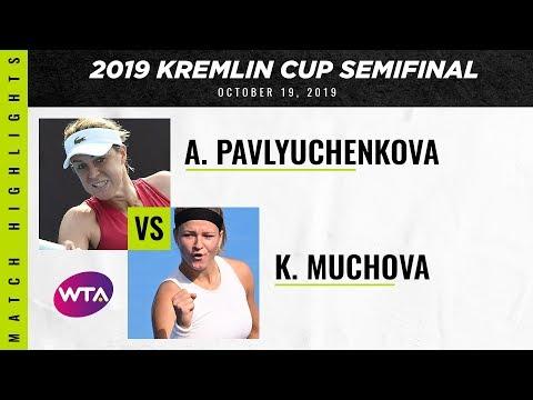 Anastasia Pavlyuchenkova vs. Karolina Muchova | 2019 Kremlin Cup Semifinal | WTA Highlights