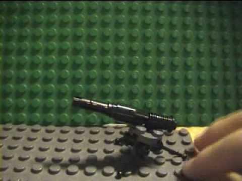 how to build a lego machine gun turret - YouTube