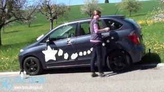 Wie wird ein Sticker hergestellt?/ How to create e car vinyl sticker?