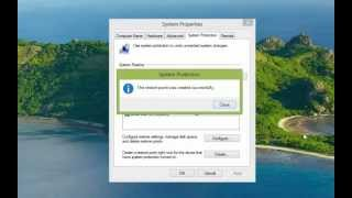 Making A System Restore Point In Windows 8