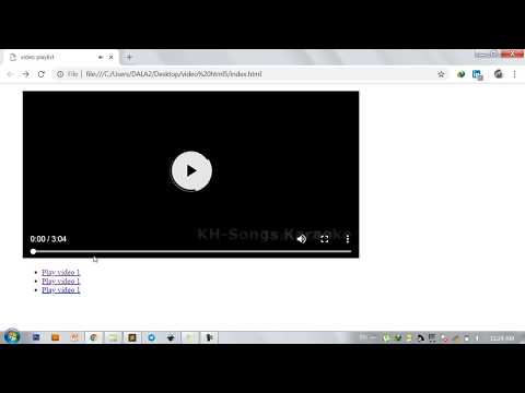 HTML5 | How To Create Video Playlist With HTML5 & JAVASCRIPT?