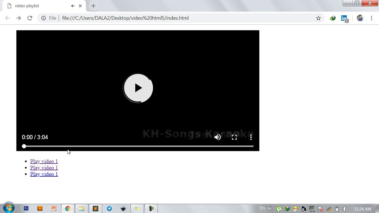 HTML5   How to create video playlist with HTML5 ...