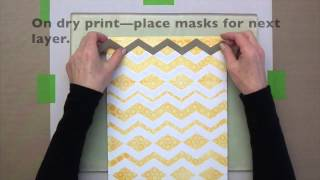 Peel Away Masks with Gelli™ Arts!