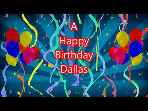 Dallas Happy Birthday blue sunbeam