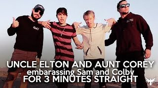 Uncle Elton and Aunt Corey embarassing Sam and Colby for 3 minutes straight