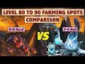 King's Raid - Level 80 to 90 EXP Farming Spots Comparison and Analysis