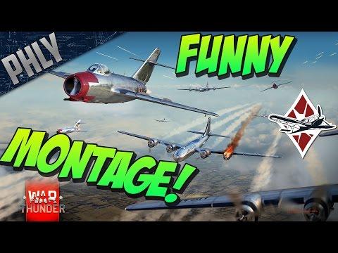 MIG-15 FUNNY MOMENTS & KILL MONTAGE - War Thunder Jet Gameplay