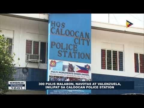 NEWS BREAK: 300 pulis Malabon, Navotas at Valenzuela, inilipat sa Caloocan Police Station