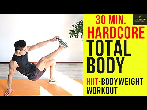 30 Minute HARDCORE Total Body HIIT Workout | Home Bodyweight Workout