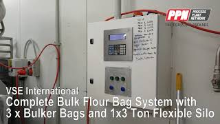 Complete Bulk Flour Weighing System with 3 x Bulker bags and 1x30 Ton Flexible Silo