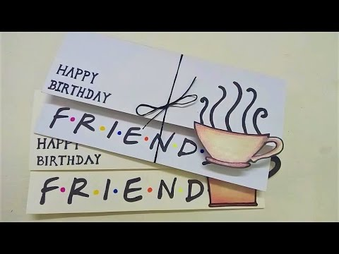 Simple Birthday Card For Friends| FRIENDS DIY