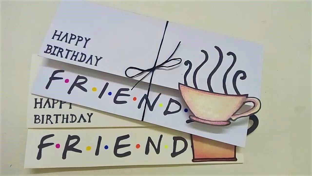Simple Birthday Card For Friends Friends Diy Youtube