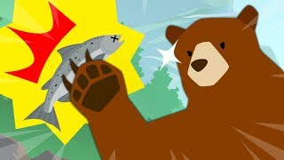 Bear Fish Fishing How to catch a bear How do you catch it? Learn the words