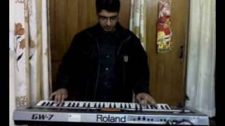 Indian Punjabi Bhajan (Rahi Bakshda tu) played by Balwinder with Roland GW-7 Keyboard.mp4