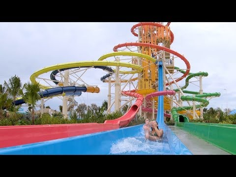 So Many Water Slides On This Island!