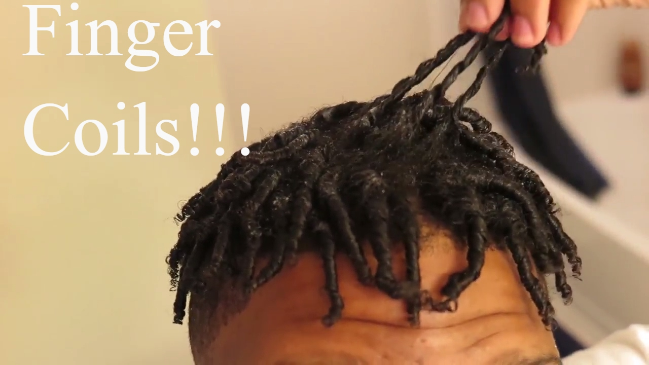 Naturally Curly Hair Finger Coils Youtube