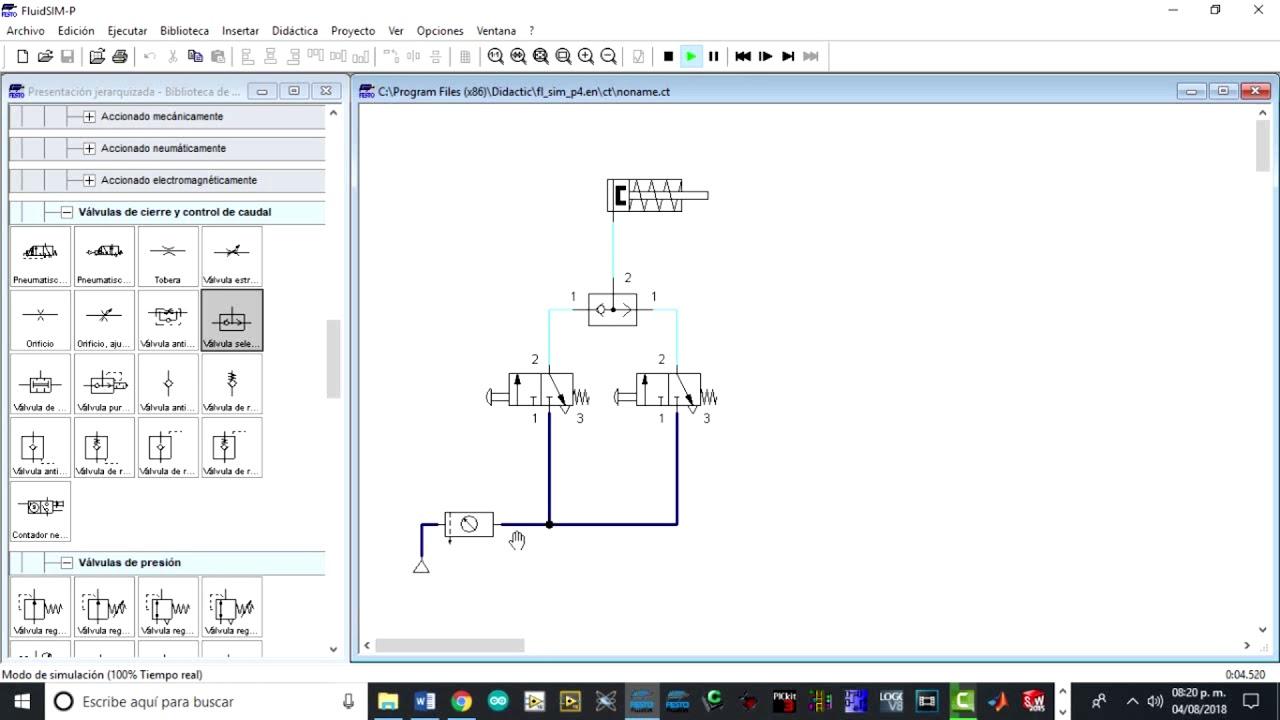 Fluidsim Festo Neumatica Basica 5 Pneumatics Circuit Diagram Pneumatics Diagram Pneumatics Diy