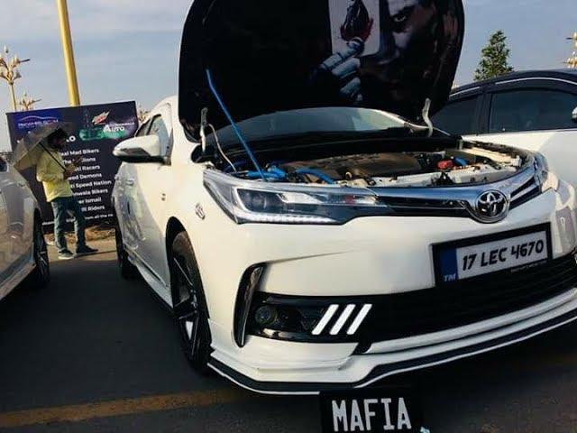 Toyota Corolla Atlis Grande Facelift Fully Modified Pakwheels Gujranwala Auto Show