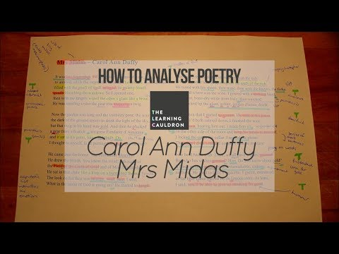 Carol Ann Duffy's 'Mrs Midas' | How to Analyse Poetry